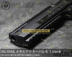 Nine Ball - Metal Outer Barrel 7.5 inch for Tokyo Marui Desert Eagle .50AE GBB